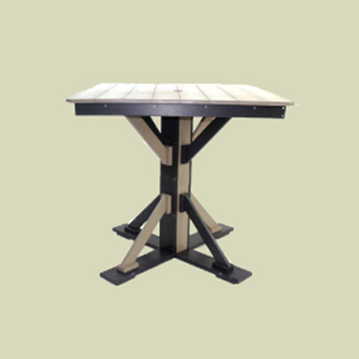 Bar Height Table with Straight Brace & Umbrella Hole