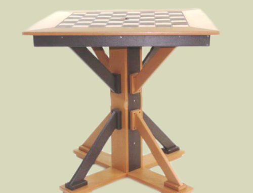 Checker Table with Straight Base, Pub Height