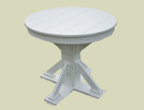 Patio Height Round Top With Straight Brace