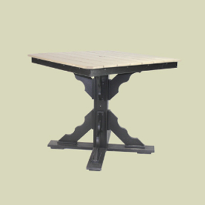 Pub Height Table with Scallop Base & Umbrella Hole