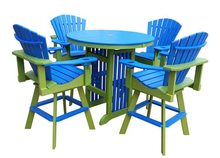 Balcony Height Swivel Patio Set: Lake Mattress And Furniture